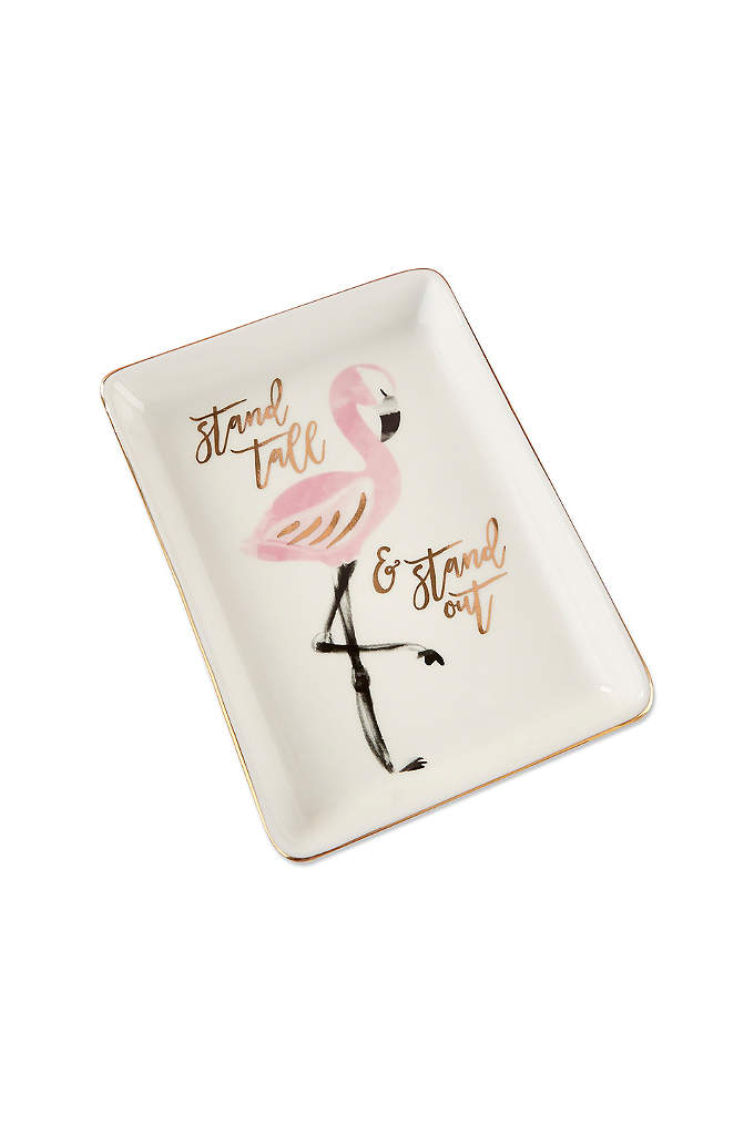 Flamingo Trinket Dish Set of 4 - The Flamingo Trinket Dish inspires guests with its