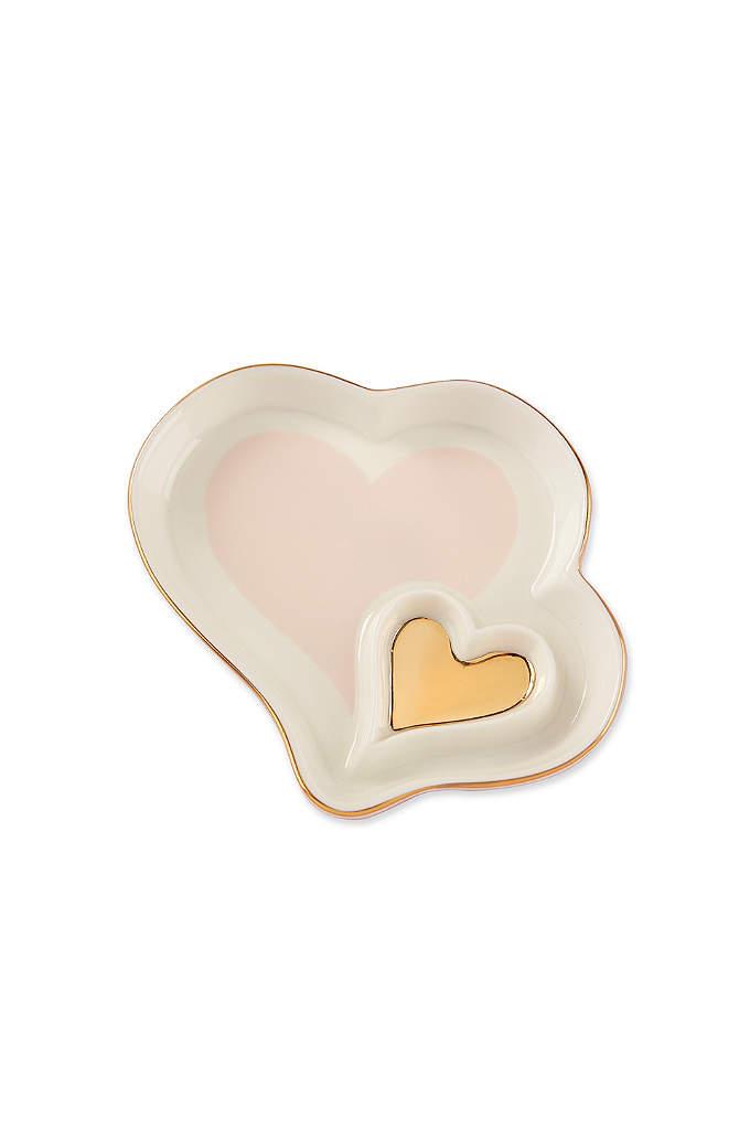 Double Heart Trinket Dish Set of 4 - A Double Heart Trinket Dish is a sweet