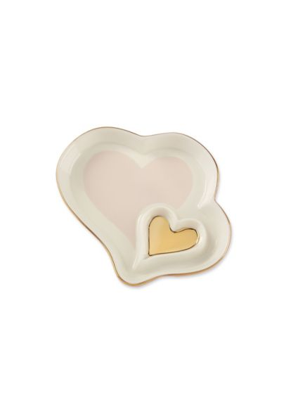 Double Heart Trinket Dish Set of 4 - Wedding Gifts & Decorations