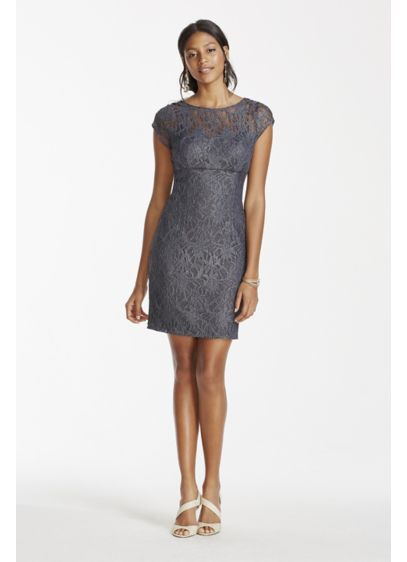 Short Sheath Cap Sleeves Cocktail and Party Dress - Hailey by Adrianna Papell