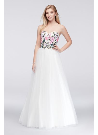Long Ballgown Strapless Cocktail and Party Dress - Sean Collections