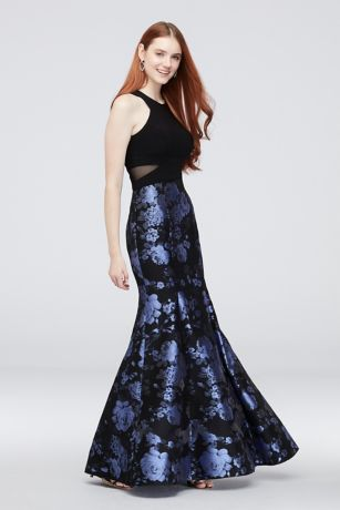 Long Mermaid/ Trumpet Halter Dress - Xscape