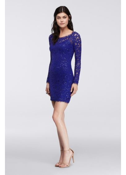 Short Sheath Long Sleeves Cocktail and Party Dress - My Michelle