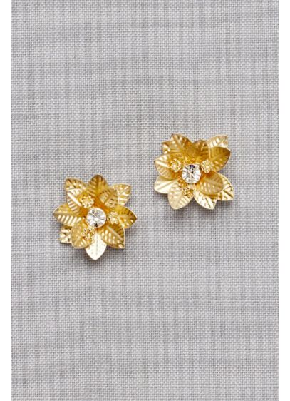 David's Bridal Yellow (3D Crystal Flower Posts)