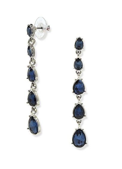 Graduated Crystal Linear Drop Earrings - Wedding Accessories