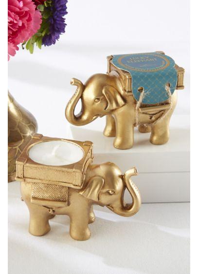 Golden Elephant Tealight Holders - Wedding Gifts & Decorations