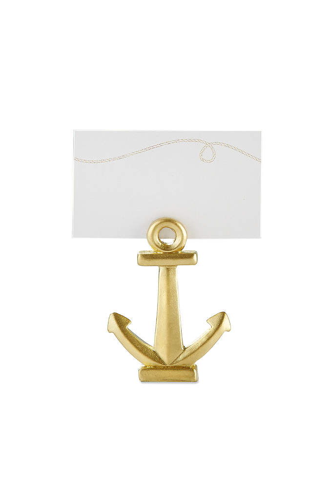 Gold Nautical Anchor Place Card Holder Set of - These Gold Nautical Place Card Holders help guests