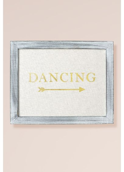 Gold Foil on Linen Dancing Sign Decoration - Wedding Gifts & Decorations