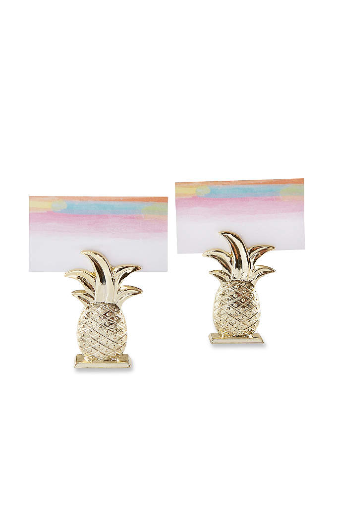 Gold Pineapple Place Card Holders Set of 6 - Use these Gold Pineapple Place Card Holders to