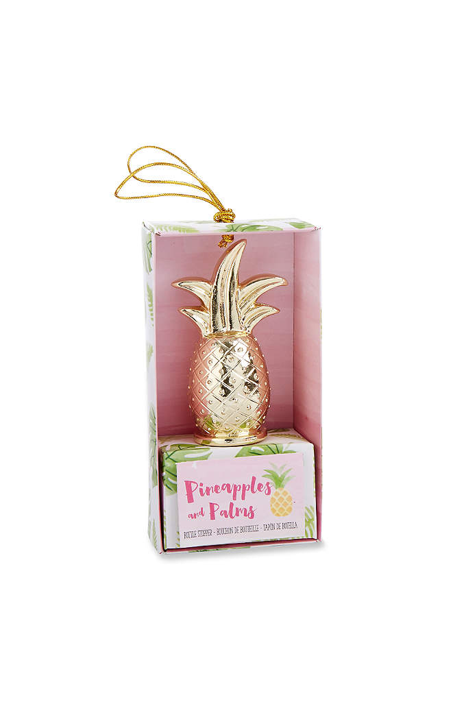 Gold Pineapple Bottle Stopper - These Gold Pineapple Bottle Stoppers are great favors