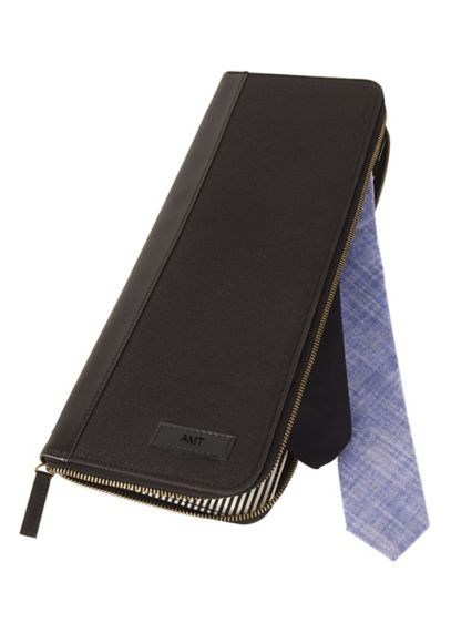 Personalized Men's Travel Tie Case - Wedding Gifts & Decorations