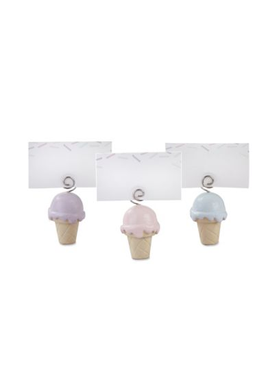 Ice Cream Place Card Holder Set of 12 - Add a scoop of color to table settings