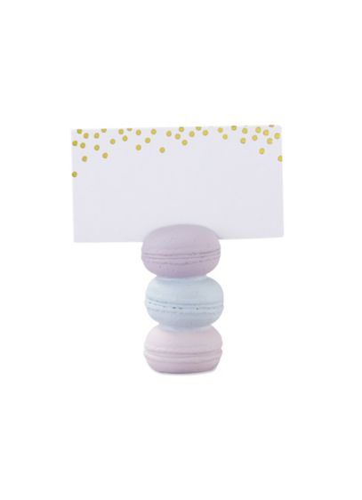 Macaroon Place Card Holder Set of 12 - Guests will absolutely eat these Macaroon Place Card