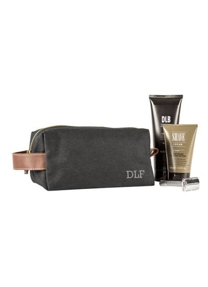 Green (Personalized Waxed Canvas and Leather Dopp Kit)