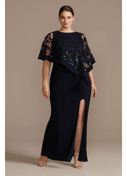 Long Sheath Capelet Formal Dresses Dress - RM Richards