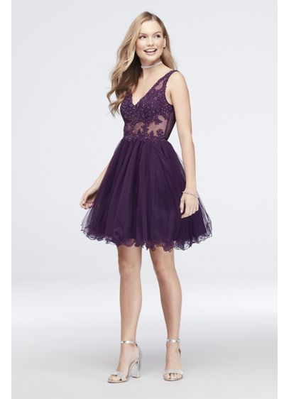 22bdc9a1f7a Short Ballgown Tank Cocktail and Party Dress - Blondie Nites