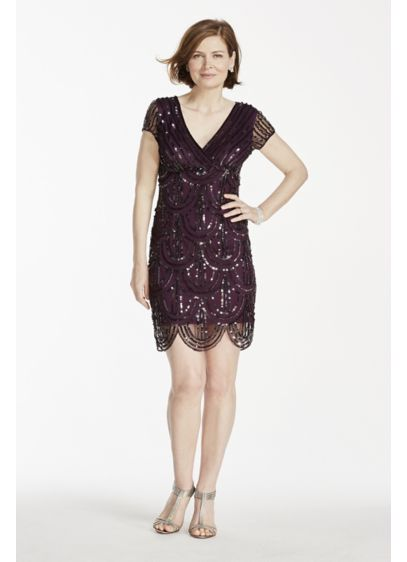 Short Sheath Cap Sleeves Cocktail and Party Dress - Marina