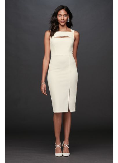 Short Sheath Casual Wedding Dress - Jump