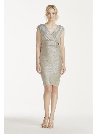 Short Sheath Cap Sleeves Cocktail and Party Dress - Jump