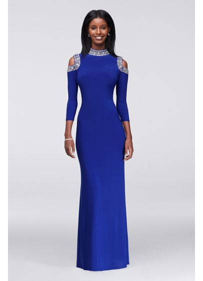 Long Sheath Off the Shoulder Cocktail and Party Dress - Marina