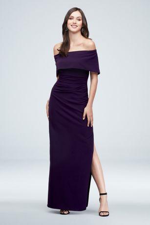 Long Sheath Off the Shoulder Dress - Marina