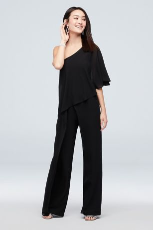 Long Jumpsuit One Shoulder Dress - Marina