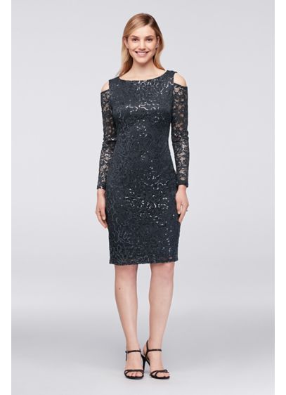 225c3a4ca4c Short Sheath Off the Shoulder Cocktail and Party Dress - Marina