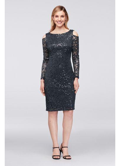 Short Grey Soft & Flowy Marina Bridesmaid Dress