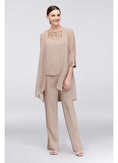 Long Jumpsuit Jacket Cocktail and Party Dress -