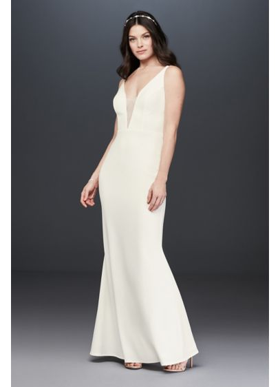 Long Sheath Beach Wedding Dress - Marina