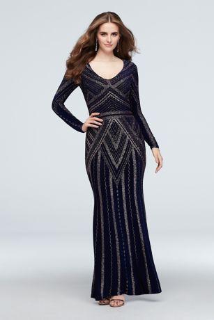 Long Sheath Long Sleeves Dress - Marina