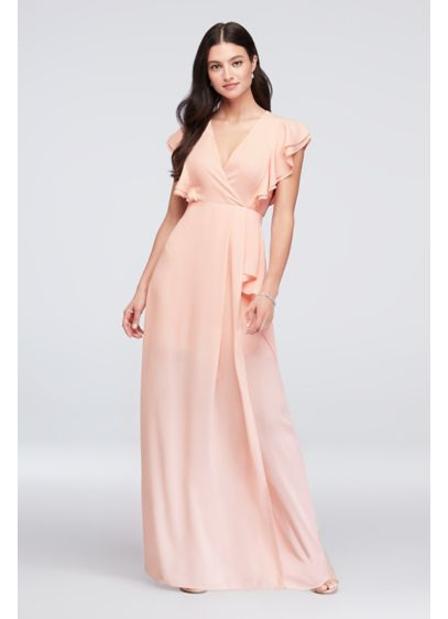 Long Orange Soft Flowy Reverie Bridesmaid Dress