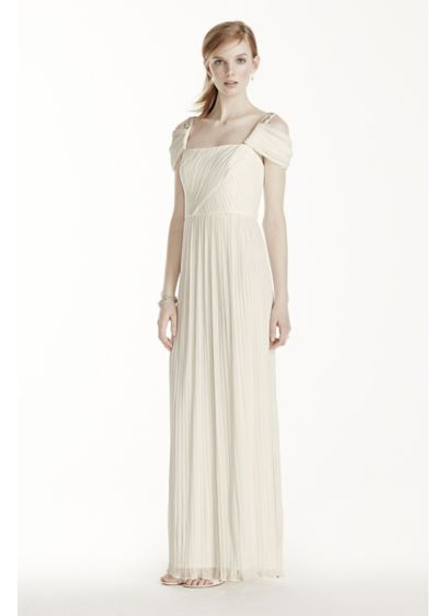 42d77d1ab8b7 Beaded Drop Shoulder Pleated Long Jersey Dress