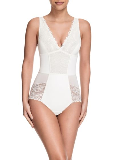 Squeem Brazilian Flair Slimming Lace Bodysuit - Wedding Accessories