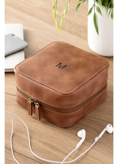 Personalized Vegan Leather Travel Tech Case - The vegan leather tech case is the prime