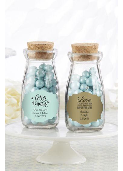 Vintage Style Milk Bottle Favors - Wedding Gifts & Decorations