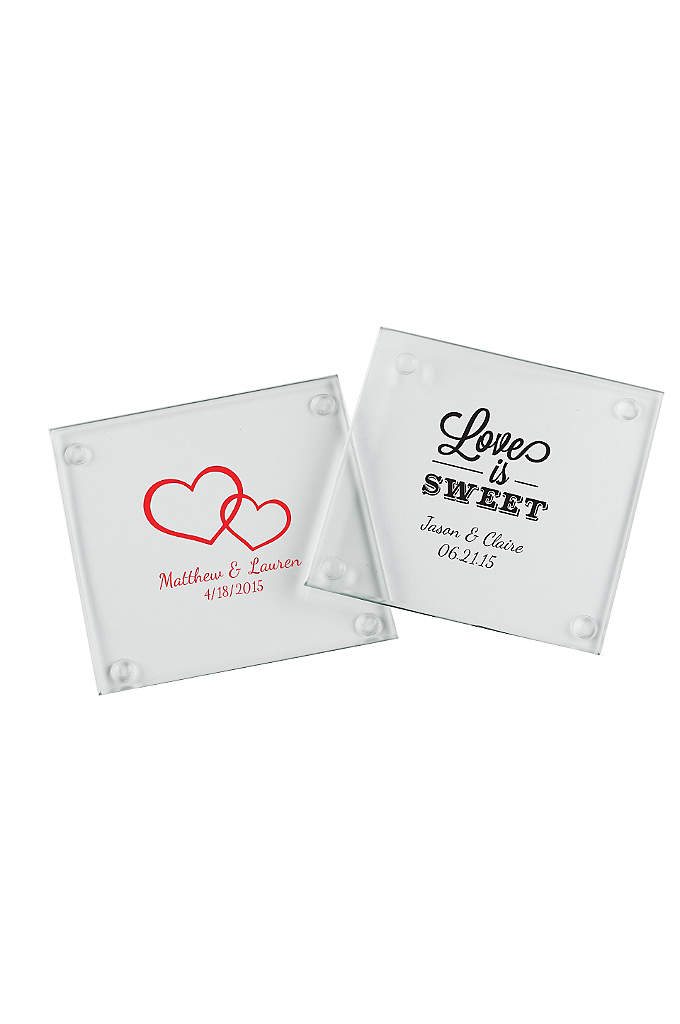 Personalized Glass Coaster Set of 12 - An event to remember! Do so beautifully with