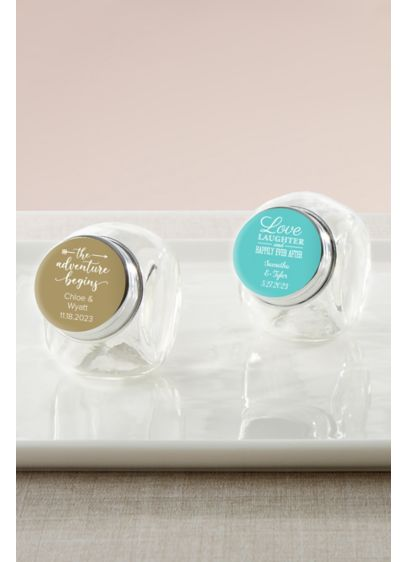 Personalized Mini Glass Favor Jar Set of 12 - Wedding Gifts & Decorations
