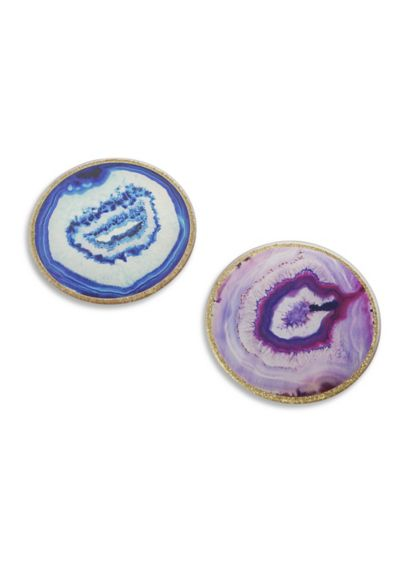 Geode Glass Coasters Set of 4 - The Purple Geode Glass Coasters are the perfect