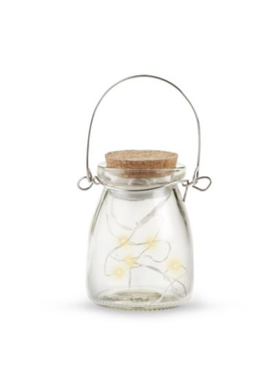 Hanging Clear Jar With Fairy Lights Set of 4 - Wedding Gifts & Decorations
