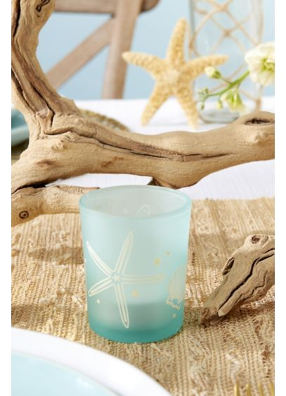 Beach Party Frosted Glass Votive Set - Wedding Gifts & Decorations