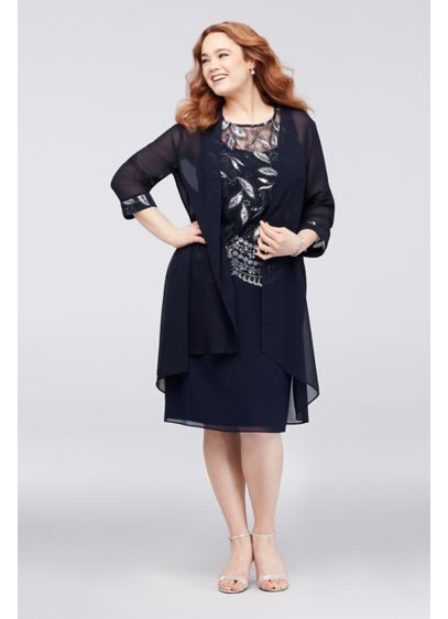0474417f25f Short A-Line Jacket Cocktail and Party Dress - Le Bos