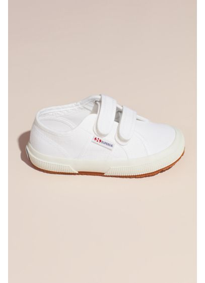 Girls Superga Jvel 2750 Canvas Sneakers - These classic canvas Superga sneakers Velcro at the