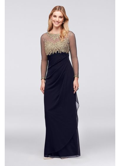 Long Sheath Long Sleeves Cocktail and Party Dress - Xscape