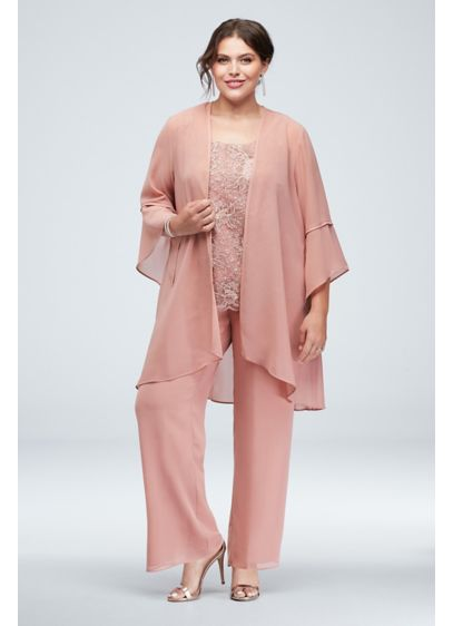 Long Pink Soft & Flowy Le Bos Bridesmaid Dress