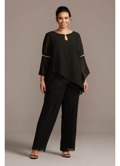 Long Jumpsuit Long Sleeves Cocktail and Party Dress - Le Bos