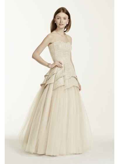 Long Ballgown Strapless Guest of Wedding Dress - Masquerade