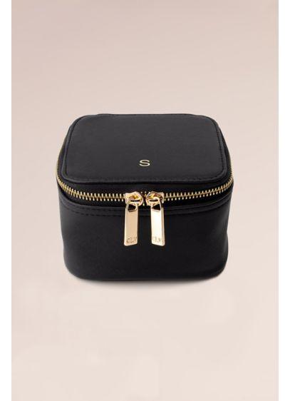 Monogram Vegan Leather Jewelry Case - Wedding Gifts & Decorations