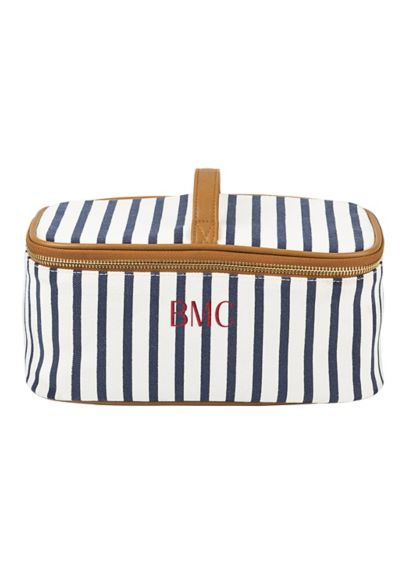 Personalized Striped Cosmetic Case - Wedding Gifts & Decorations