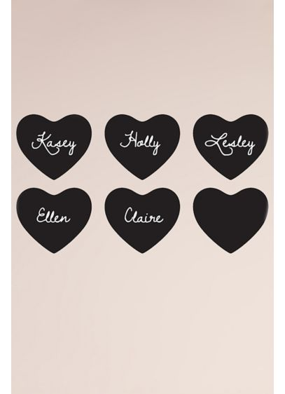Adhesive Chalk Heart Stickers - Wedding Gifts & Decorations